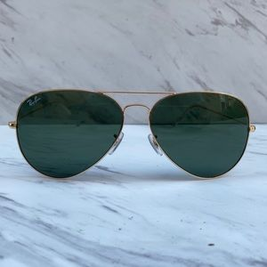 😎 Ray-Ban Aviator Classic RB3026 Gold Large